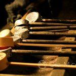 Nara - świątynia Kōfukuji, chochelki do rytualnego obmywania rąk