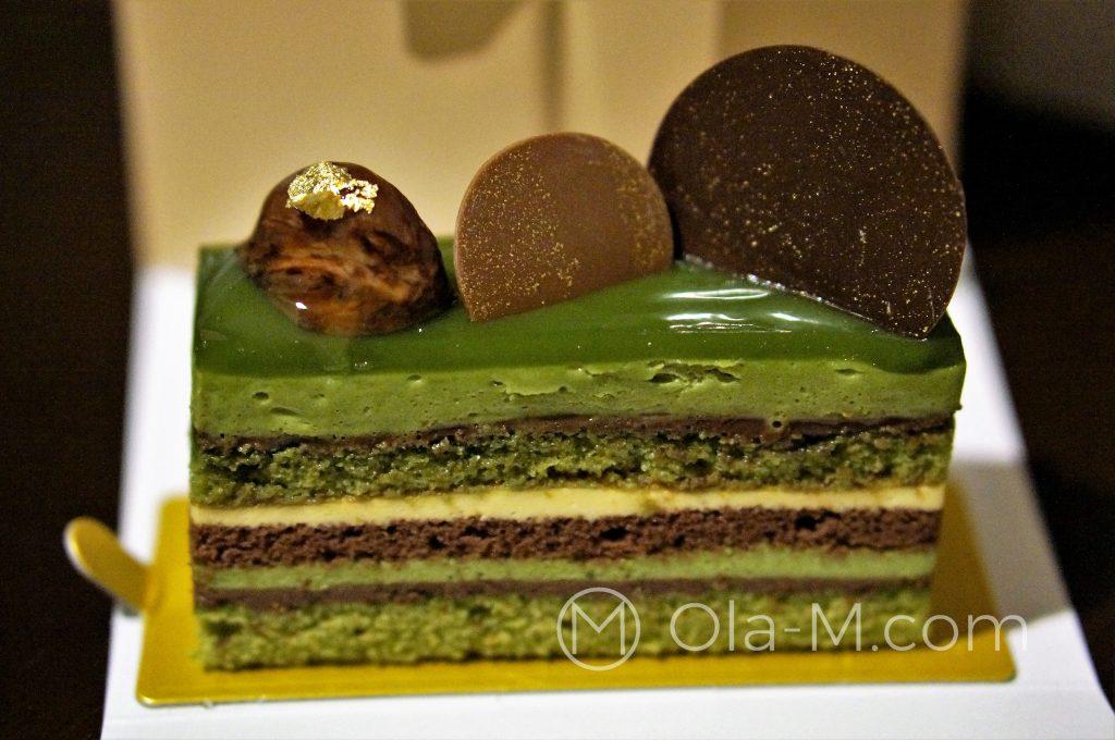Japońskie słodycze: ciasto z matchą