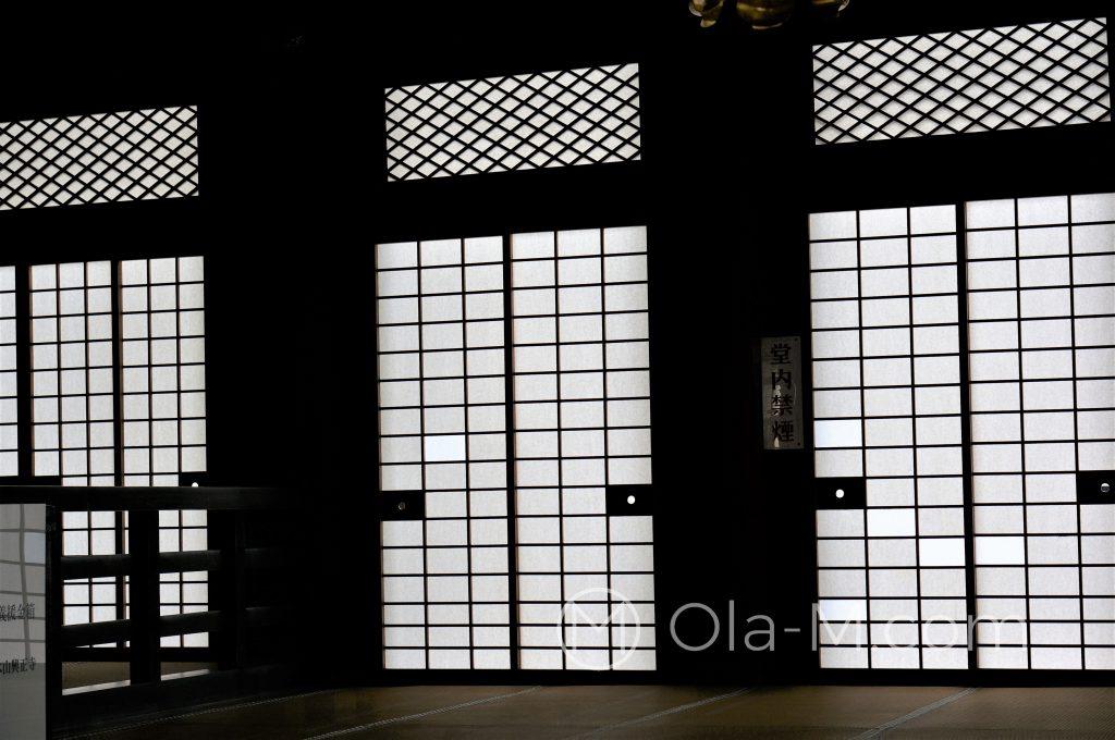 Kioto, świątynia Kōshō-ji - drzwi w stylu shoin