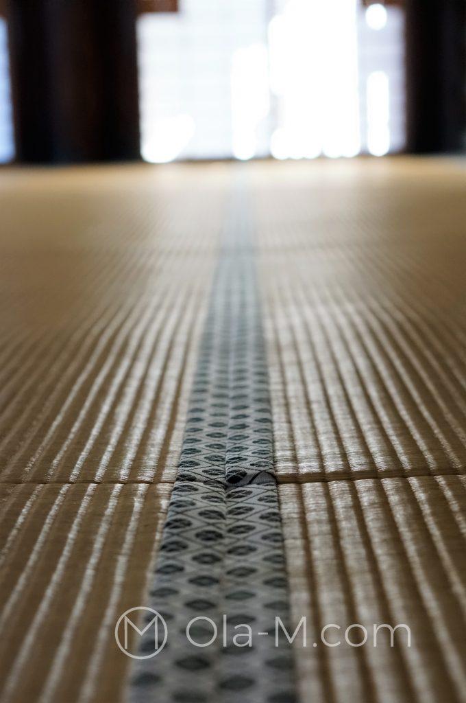 Kioto, świątynia Kōshō-ji - podłoga wyłożona matą tatami