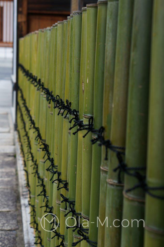 Kioto, świątynia Nishihongan-ji - bambusowy płotek