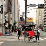 Tokio - Asakusa - znowu rykszarz w tradycyjnym stroju