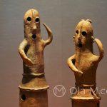 Tokio - Muzeum Narodowe - ponoć pierwsze figurki tancerzy znalezione w Japonii
