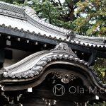 Tokio - dzielnica Ueno, piękne zwieńczenie dachu tradycyjnej japońskiej budowli