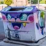 Marsylia - Le Panier - graffiti nawet na koszu na śmieci