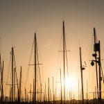 Marsylia - Stary Port (Vieux Port) - o wschodzie słońca