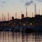 Marsylia - Stary Port o zachodzie słońca