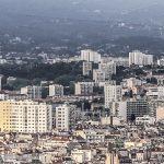 Marsylia - panorama miasta - tutaj niestety dobrze widać, że Marsylia to nie tylko piękne stare miasto, ale też wielkie blokowiska, będące często punktem zapalnym miasta