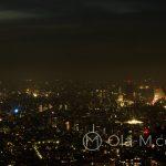 Nocna panorama Tokio widziana z platformy obserwacyjnej ratusza - niezapomniany widok na bezkresne morze świateł