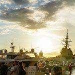 Port w Maladze - statki cumujące przy nadbrzeżu