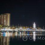 Port w Maladze - wieczorem
