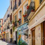 Malaga - Stare Miasto - jedna z kolorowych uliczek
