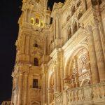 Malaga - Katedra nocą z innej perspektywy