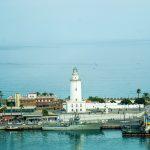 Malaga - widok na port z diabelskiego koła Noria Mirador Princess