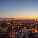 Andaluzja - Malaga - panorama miasta z tarasu hotelu AC Hotel Malaga