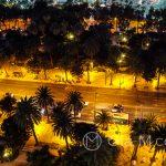 Andaluzja - Malaga - widok na drogę wzdłuż wybrzeża z tarasu hotelu AC Hotel Malaga