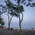 Plaża Pedregalejo w okolocach El Balneario - po zachodzie słońca zbierali się tutaj ludzie nie budzący nadmiernego zaufania - gdybym była tutaj sama, to czułabym się dośyć nieswojo