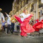 Andaluzja - Feria de Ronda 2018 - parada - jeszcze jedna grupa tańcząca tradycyjne tańce andaluzyjskie