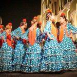 Andaluzja - Feria de Ronda 2018 - groszki to ponoć najbardziej tradycyjny wzór sukienek do flamenco