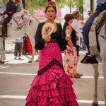 Andaluzja - Fiesta - Feria de Ronda - wachlarz to w tym upale niezbędny dodatek