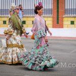 Andaluzja - Fiesta - Feria de Ronda - starsze panie w tradycyjnych strojach - niektóre z nich przekazywane sa z pokolenia na pokolenie