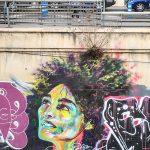 Malaga - wyschnięte koryto rzeki Guadalmedina - street art