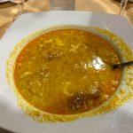 Ronda - Restauracja Restaurante Casa Quino - zupa czosnkowa - szczerze mówiąc taka sobie