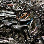 Tokio, dzielnica Sumida - pełno rowerów, jak wszędzie w Japonii