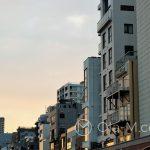 Tokio, zachód słońca nad Sumidą