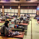 Tokio - Onsen Oedo Monogatari - spokojniejsza hala boczna do odpoczynku po kąpieli