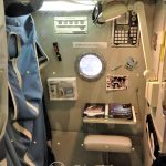 Tokio - Muzeum Miraikan na wyspie Odaiba - wnętrze modułu mieszkalnego stacji kosmicznej ISS