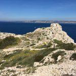 Marsylia - wyspa Ratonneau - skaliste urwiska i piękne widoki