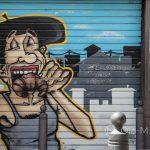 Marsylia - Le Panier - graffiti są tutaj nie tylko na budynkach, ale też na przykład na roletach zabezpieczających wejścia do sklepów