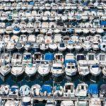 """Marsylia - Stary Port - czy właściciele tych łódek potrafią zapamiętać, gdzie """"zaparkowali"""" swoją?"""