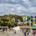 Port w Maladze - wejście do Muzeum Centre Pompidou