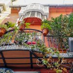Malaga - Stare Miasto - balkon ozdobiony płytkami azulejos