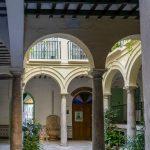 Malaga - Stare Miasto - dziedziniec w jednej z kamieniczek