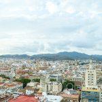 Malaga - panorama miasta z diabelskiego koła Noria Mirador Princess