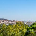 Malaga - ogród botaniczny - widok na Malagę
