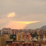 Andaluzja - Malaga - widok na miasto z tarasu hotelu AC Hotel Malaga