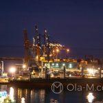 Andaluzja - Malaga - widok na port z tarasu hotelu AC Hotel Malaga