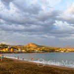 Malaga - Plaża la Malagueta o zachodzie słońca