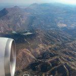 Andaluzja z lotu ptaka - widok na góry otaczające Malagę