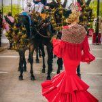 Andaluzja - Fiesta - Feria de Ronda - andaluzyjska piękność w drodze na fiestę