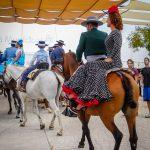 Andaluzja - Fiesta - Feria de Ronda - Amazonka na koniu - to się nazywa dobra postawa!