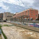 Malaga - wyschnięte koryto rzeki Guadalmedina